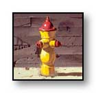 "Painting: ""Fire Plug Again"" ©1993-C.E.Newland - Acrylic - Private Collection"